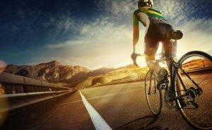 Cyclist sports massage