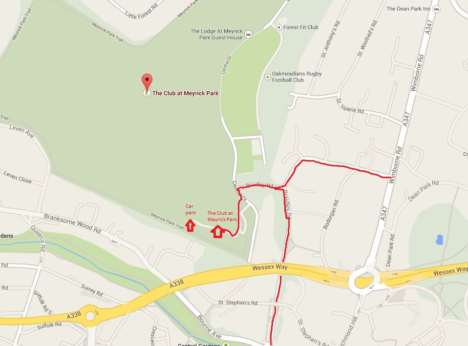 Directions to Lilliput Health BOURNEMOUTH