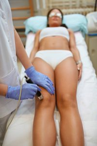 Shockwave therapy on knee