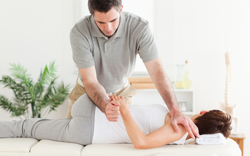 Low back stretch massage